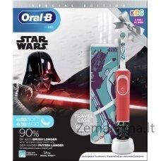Dantų šepetėlis Braun D100 Kids Vitality Star Wars + Kelioninis dėklas