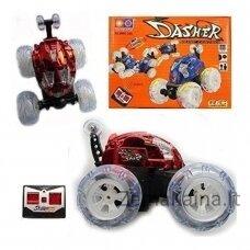 """""""Dasher"""" nuotolinio valdymo automobilis su šviesomis ir muzika, raudonas"""