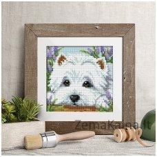 Deimantinė mozaika- Dog AZ-1639