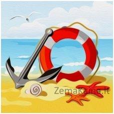 Deimantinė mozaika paveikslas - Anchor on the Sea AZ-1484