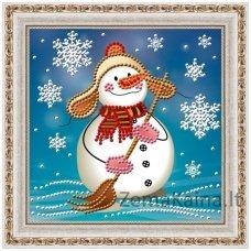 Deimantinė mozaika paveikslas - Snowman AZ-3012