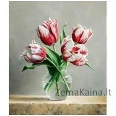 Deimantinė mozaika paveikslas - Blooming Tulips AZ-1209