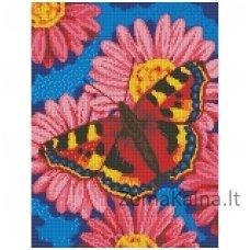Deimantinė mozaika paveikslas - Butterfly AZ-1360