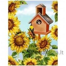 Deimantinė mozaika paveikslas Nesting Box AZ-1351