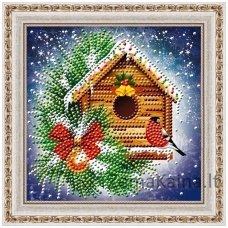 Deimantinė mozaika paveikslas - Little bird AZ-3015
