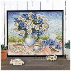 Deimantinė mozaika paveikslas - Chamomiles AZ-1656