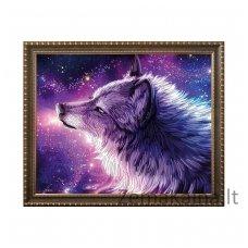 Deimantinė mozaika paveikslas - Spirit of the Wolf AZ-3021