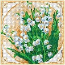Deimantinė mozaika paveikslas - First Flowers AZ-1443