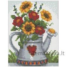Deimantinė mozaika paveikslas - Flowers AZ-1453