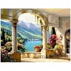 Deimantinė mozaika paveikslas - Italian Terrace AZ-1337