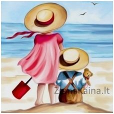 Deimantinė mozaika paveikslas - Holiday on the Beach AZ-1486