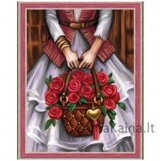 Deimantinė mozaika paveikslas Roses AZ-1576