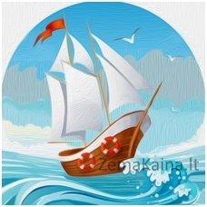 Deimantinė mozaika paveikslas - On the Waves AZ-1481
