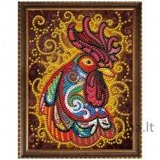Deimantinė mozaika paveikslas - Fire Rooster AZ-3017