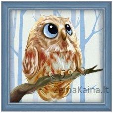 Deimantinė mozaika paveikslas - Owl AZ-1550