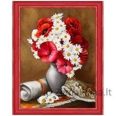 Deimantinė mozaika paveikslas Bright Poppies AZ-1510