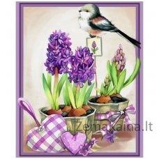 Deimantinė mozaika paveikslas - Hyacinths Aroma AZ-1467