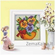 Deimantinė mozaika paveikslas Flowers AZ-1636