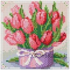 Deimantinė mozaika paveikslas - Tulips Present AZ-1449