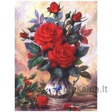 Deimantinė mozaika paveikslas Beautiful Roses AZ-1349