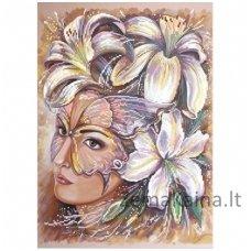 Deimantinė mozaika paveikslas Women in Flowers AZ-1023