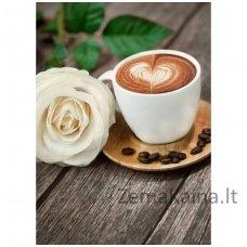 Deimantines mozaikos rinkinys - COFFEE AND ROSE WD045
