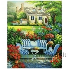 Deimantines mozaikos rinkinys - FLOWER GARDEN WD097