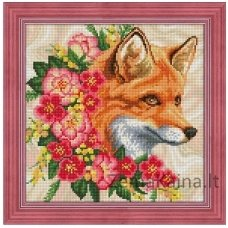 Deimantines mozaikos rinkinys - FOX IN FLOWERS AZ-1662