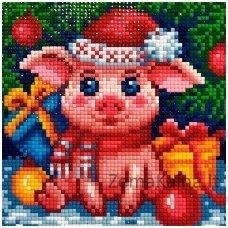 Deimantines mozaikos rinkinys - NEW YEAR PIGGY AZ-1675