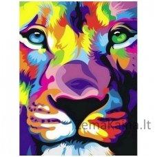 Deimantines mozaikos rinkinys - Lion's Look WD288