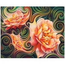 Deimantines mozaikos rinkinys - ROSE ABSTRACTION AZ-1393