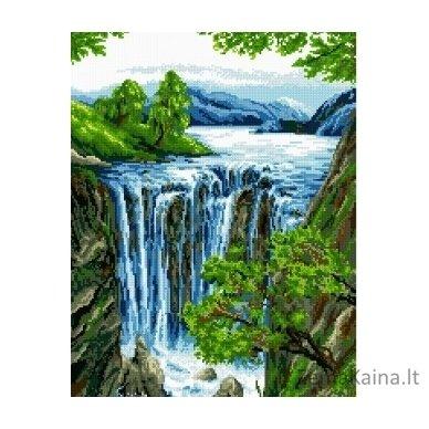 Deimantinė mozaika paveikslas Waterfall AZ-1042