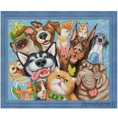 Deimantines mozaikos rinkinys - ANIMAL SELFIE AZ-1658