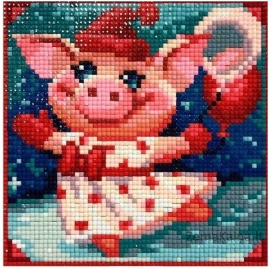Deimantines mozaikos rinkinys - CHEERFUL PIGGY AZ-1674