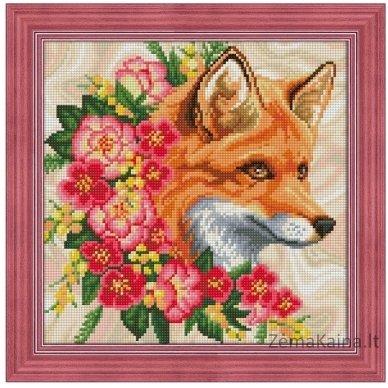 Deimantines mozaikos rinkinys - FOX IN FLOWERS AZ-1662