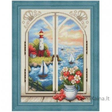 Deimantines mozaikos rinkinys - LIGHTHOUSE OUT THE WINDOW AZ-1665