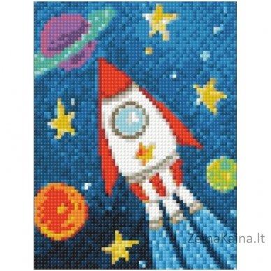 Deimantines mozaikos rinkinys - Space Ship WD275 2