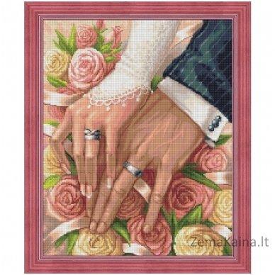 Deimantines mozaikos rinkinys - ON THE WEDDING DAY AZ-1667