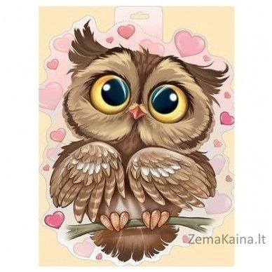 Deimantines mozaikos rinkinys - OWL IN LOVE WD296