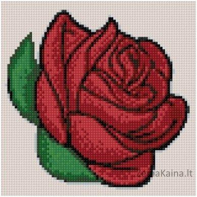Deimantines mozaikos rinkinys - Rose Bud WD299 2