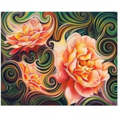 Deimantines mozaikos rinkinys - ROSE ABSTRACTION AZ-1393