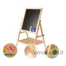 Didelė dvipusė magnetinė lenta piešimui ir žaidimams su priedais