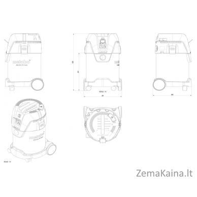 Dulkių siurblys METABO ASA 30 L PressClean Inox 2