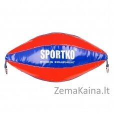 Dviejų tvirtinimų greičio kriaušė SportKO GP2 - Blue-Red