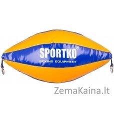 Dviejų tvirtinimų greičio kriaušė SportKO GP2 - Orange-Blue