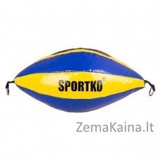 Dviejų tvirtinimų greičio kriaušė SportKO GP2 - Yellow-Blue