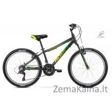 """Dviratis Romet Rambler 24"""" Alu 2021 black-green"""