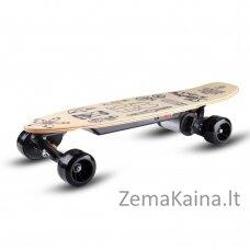Elektrinė riedlentė / longbordas su valdymo pulteliu Skatey 150L Wood Art