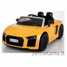 Elektromobilis  geltonas elektromobilis AUDI R8 Spyder