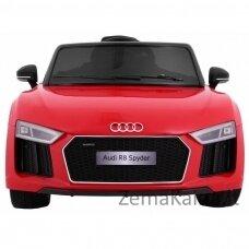 Elektromobilis  raudonas  elektromobilis AUDI R8 Spyder